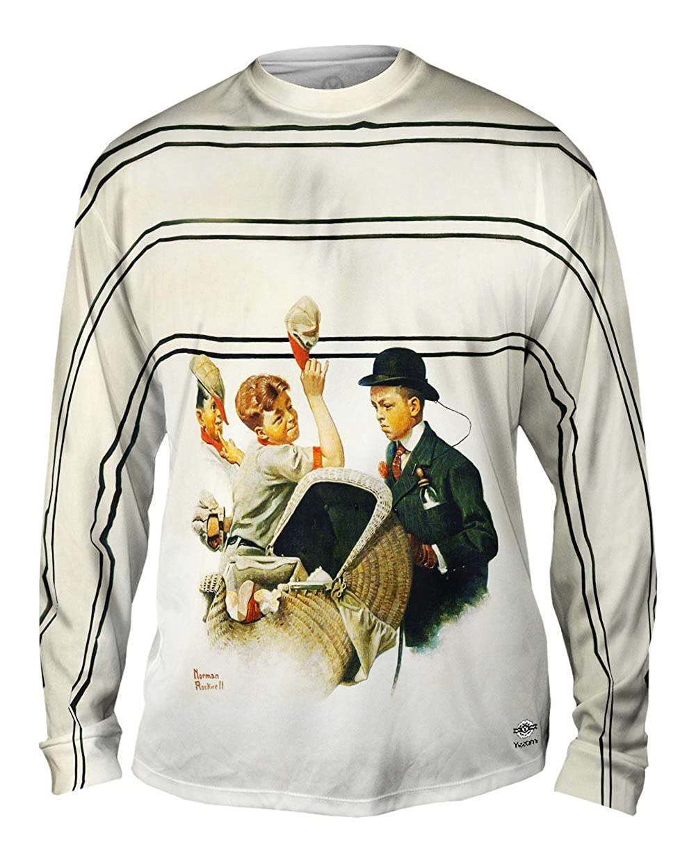 Norman Rockwell Yizzam Mens Long Sleeve 2555 Boy with Baby Car