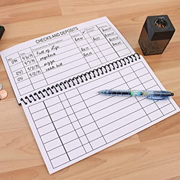 Amazon.com : Large Print Spiral Bound Check Register Book For Easy ...