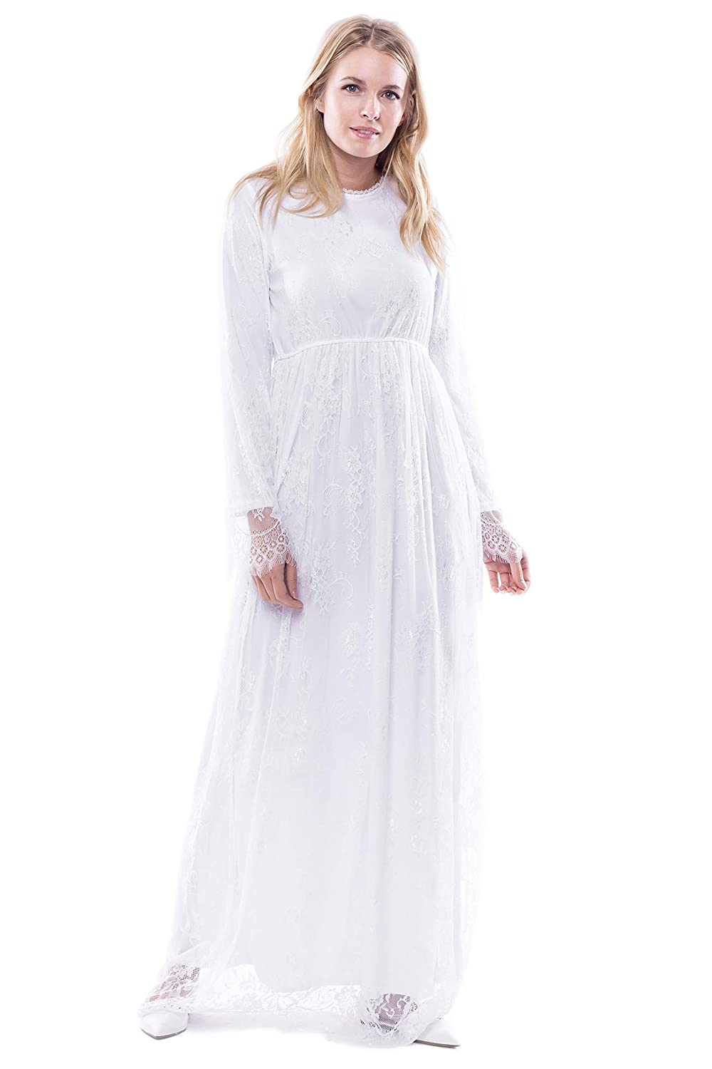 1920s Downton Abbey Dresses ModWhite Jasmine White Temple Dress $79.00 AT vintagedancer.com