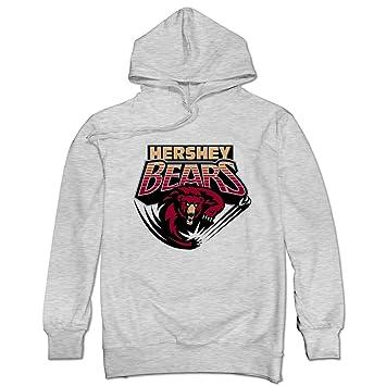 Sólo los hombres de Bryan Helmer Logo Hershey s osos Sudaderas, XXL, Ceniza