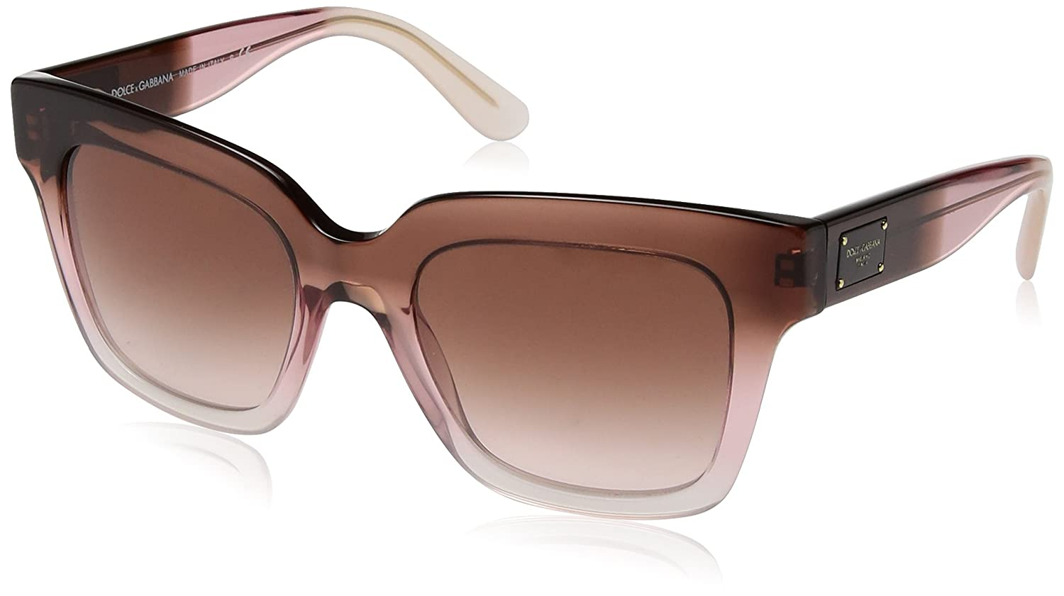 Dolce and Gabbana 306013 Bordeaux / Pink / Powder 306013 Dark Pink Fade 51  Squa: Amazon.co.uk: Clothing