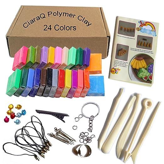 72 opinioni per CiaraQ Colore misto 24 Argilla Effetto Morbido Blocchi DIY Hobby Migliore per i