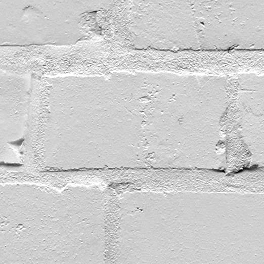 Loft Photo Realistic Brick Effect Wallpaper In White And Grey Shading  (Sample Only): Amazon.co.uk: Kitchen U0026 Home