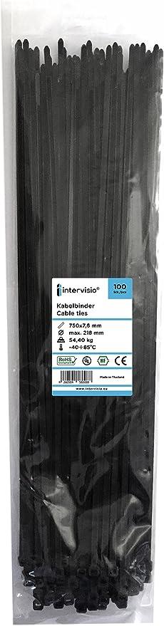 Kabelbinder Extra Lang Industriequalität 750mm X 7 6mm Schwarz 100 Stück Baumarkt