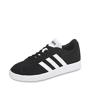 adidas Unisex-Kinder Vl Court 2.0 K Fitnessschuhe, Weiß (Ftwbla/Negbas/Ftwbla 000), 34 EU
