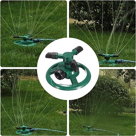 Jardín Agua aspersores + tres brazo, 360 ° rotación pulverizador Jardín Sistema de riego: Amazon.es: Jardín