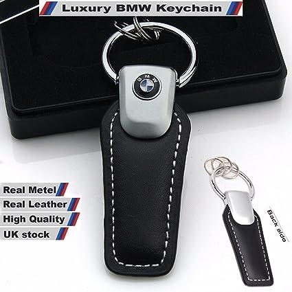Llavero BMW N 3D para coche, alta calidad, cuero auténtico, con logotipo de BMW, viene en una caja de regalo