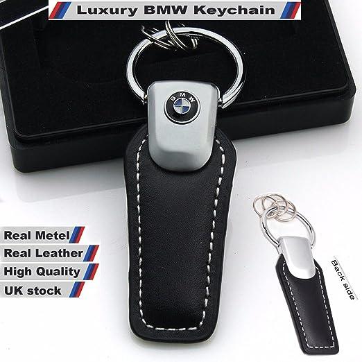 4 opinioni per Portachiavi con logo 3D di BMW M, in vera pelle, in confezione regalo