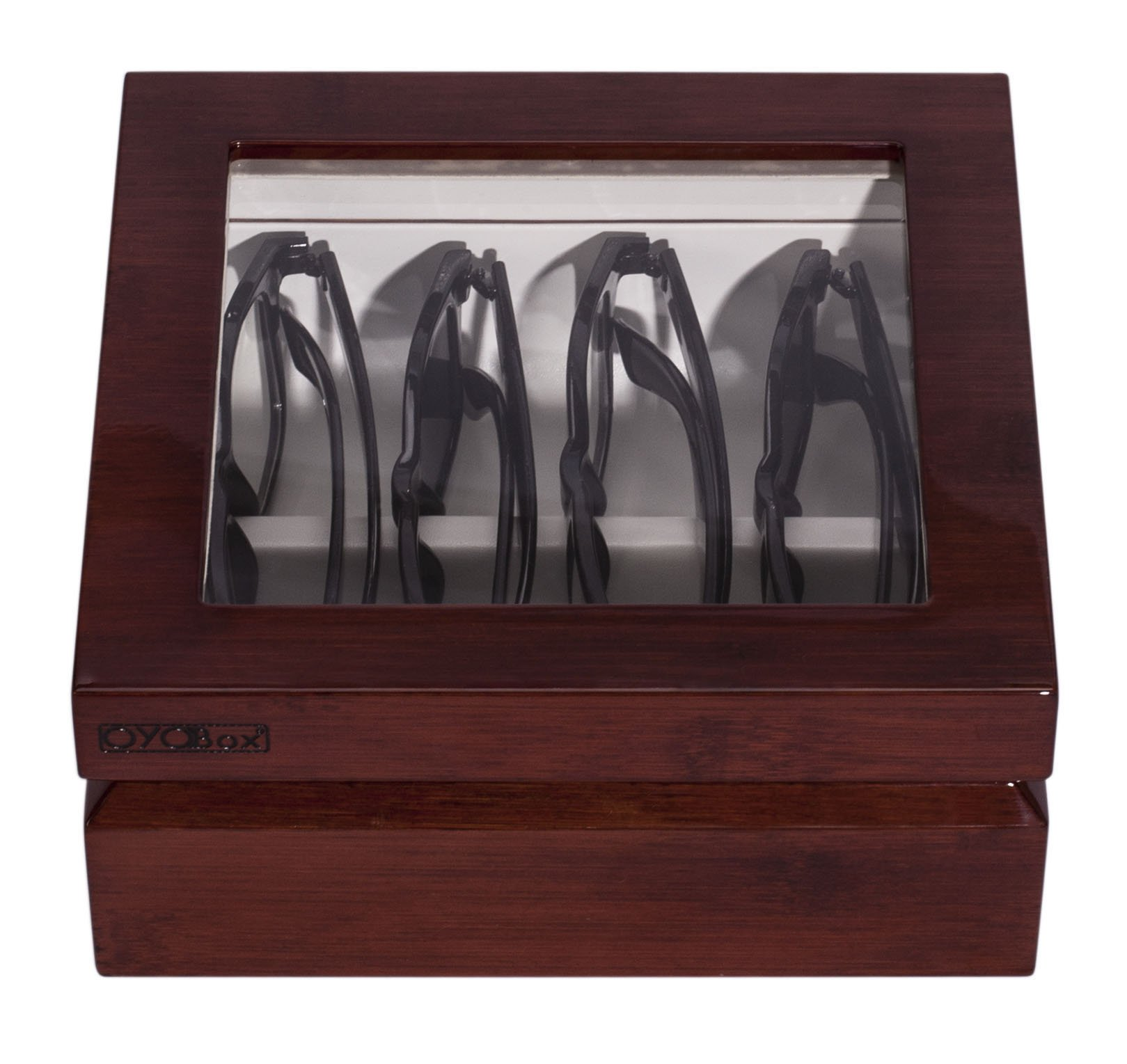 OYOBox Mini Designer Eyewear Box (Mahogany)
