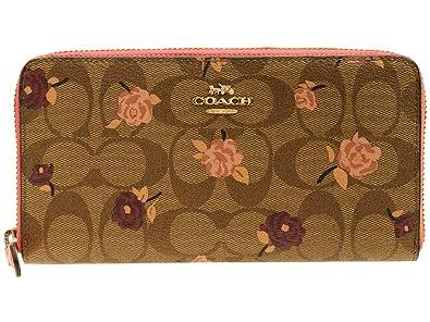4c532f36b5bc (コーチ) COACH 財布 長財布 ラウンドファスナー シグネチャー 花柄 アウトレット [並行輸入
