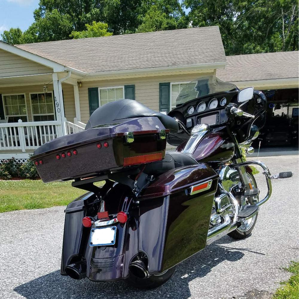 Motorcycle Black Rear Fender Extension Filler Fit For Harley Touring 2014-2017