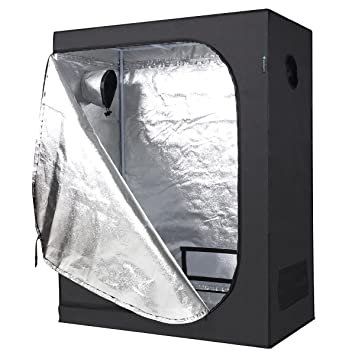 IDAODAN 2x4 Grow Tent 48u0026quot;x24u0026quot;x60u0026quot; 600D Mylar Hydroponic Indoor Grow  sc 1 st  Amazon UK & IDAODAN 2x4 Grow Tent 48