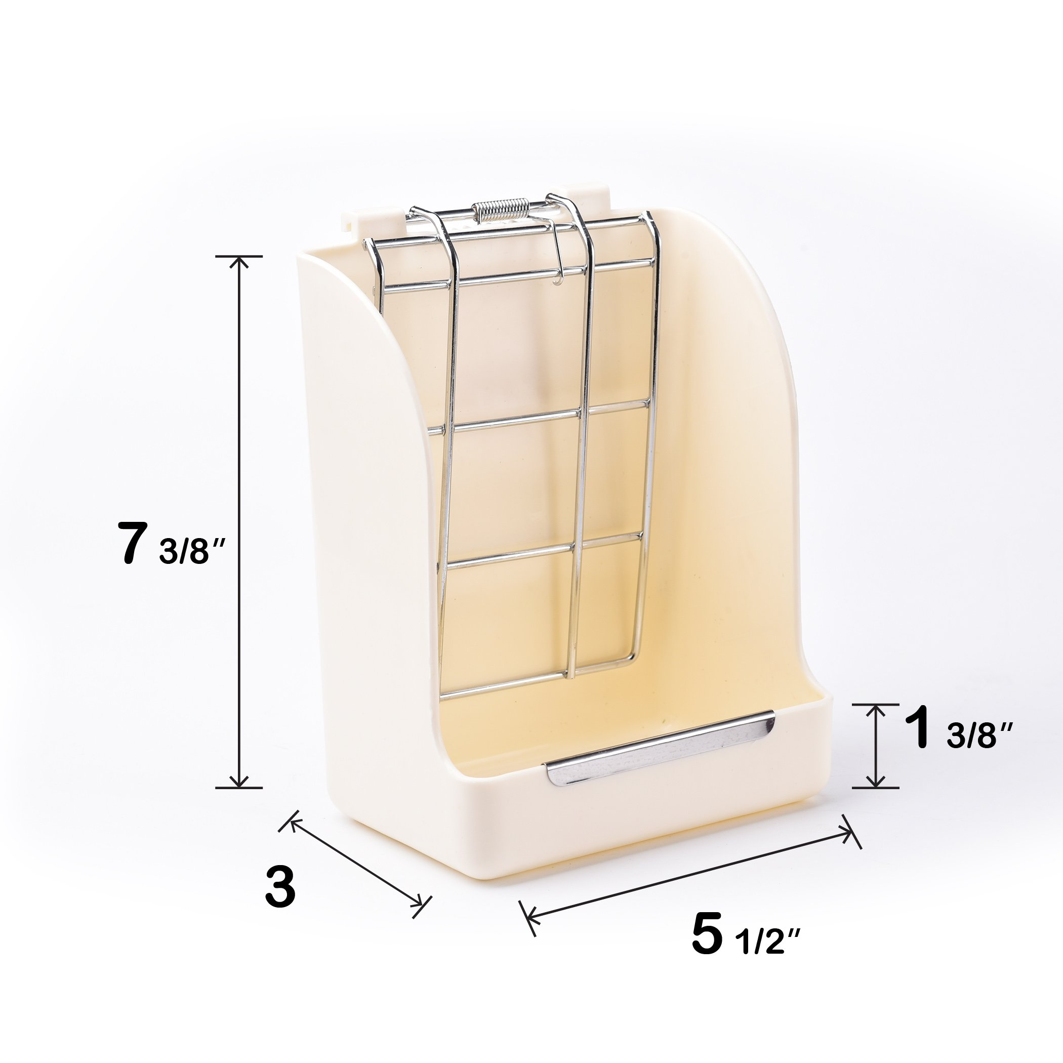 CalPalmy (Upgraded 2-Pack) Hay Feeder/Rack - Ideal for Rabbit/Chinchilla/Guinea Pig - Keeps Grass Clean & Fresh/Non-Toxic, BPA Free Plastic/Minimizing Waste/Mess by CalPalmy (Image #4)