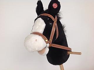 Unbekannt freundliches Steckenpferd schwarz mit Galopp und Wieh Geräusche, Stockpferd, Pferd