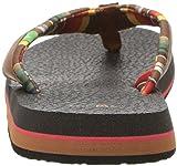 Sanuk Women's Yoga Mat 2 Prints Sandal, Molten Lava