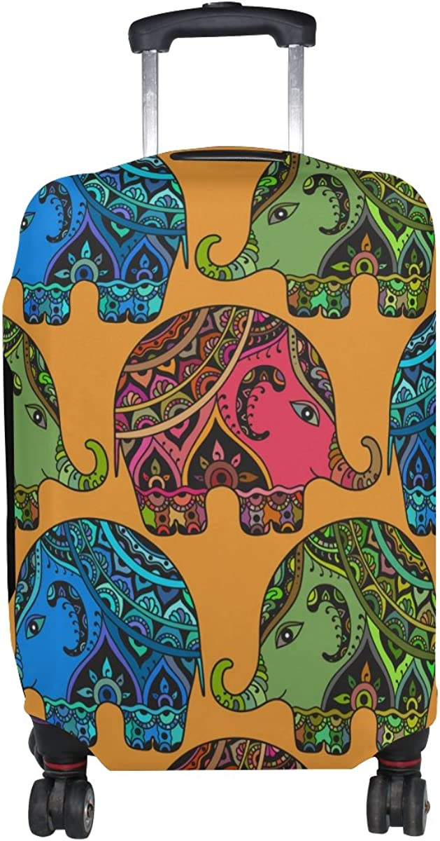 LAVOVO Tribal Indian Elephants Luggage Cover Suitcase Protector Carry On Covers