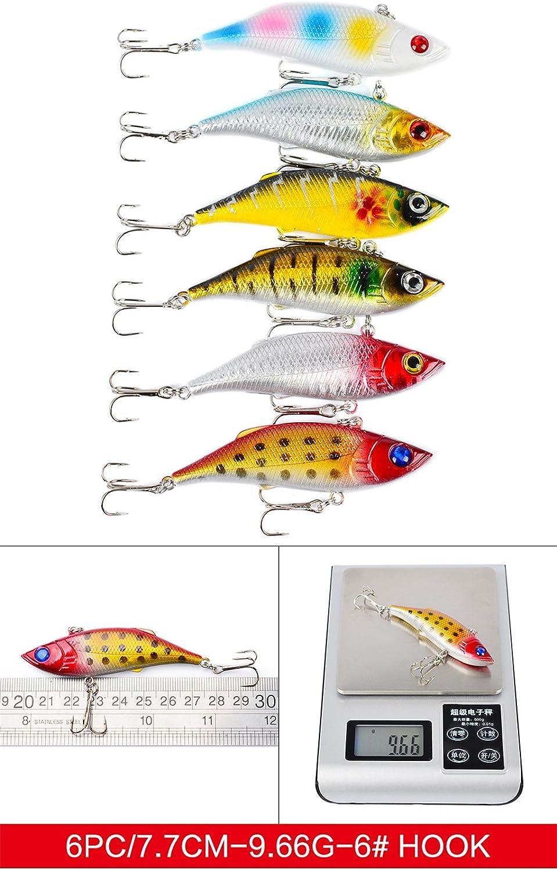 LEAMALLS Se/ñuelos Pesca Artificial Cebos para Anzuelos Pesca Cucharillas Pesca Accesorios Aparejos De Pesca para la Pesca Ganchos