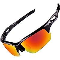 FLEX Polarized Sports Sunglasses for Men & Women. Ultra Tough Lightweight Frame w/ HD lens for Cycling Driving Fishing…
