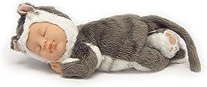 """Commonwealth Toys Anne Geddes 9"""" Baby Kitten, Grey"""