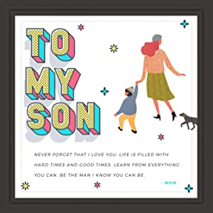 Made With Tone, Gifts for Son   7x7 Tile Artwork   Fun Art Prints for Sons   Special Present for Room Decor   Gift for Graduation, Birthday or Any Special Occasion   Perfect for Men and Boys