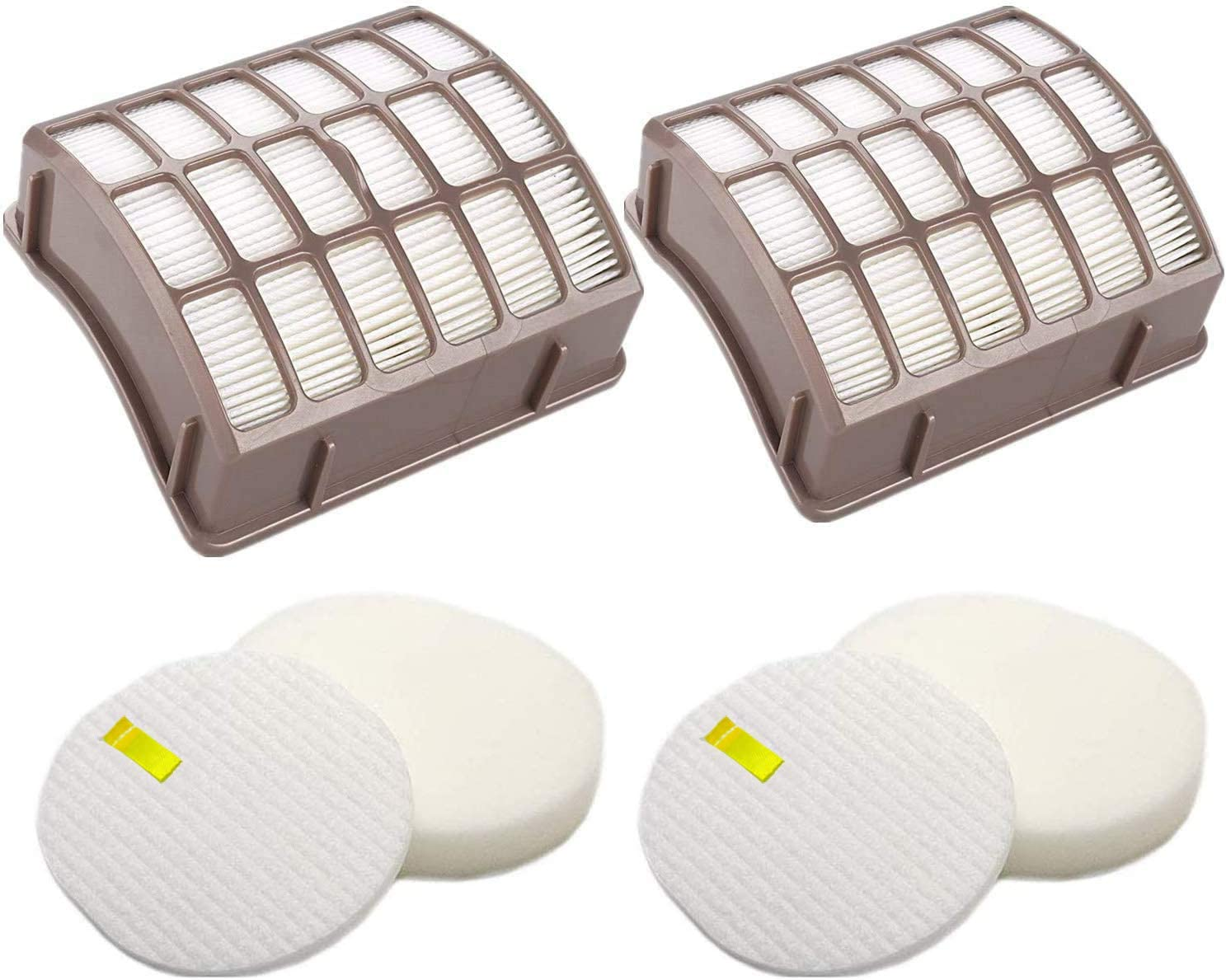 2 Pack Hepa & Foam & Felt Filters Replacement for Shark Navigator Professional NV70, NV70 26, NV71, NV80, NV80 26, NVC80C, NV90, NV95, UV420 Vacuums, Replaces Part # XFF80 & XHF80
