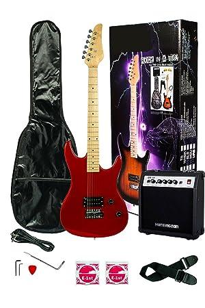 39 pulgadas Guitarra Eléctrica y Amplificador Pack & Funda de transporte y accesorios, (Guitarra