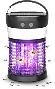 Anysun Solar Powered Bug Zapper, Portable Rechargeable Insect Mosquito Killer Lantern, Gnats, Flies, Pests Attractant Trap, Waterproof and Indoor & Outdoor - Backyard, Patio, Deck, Garden, Camping
