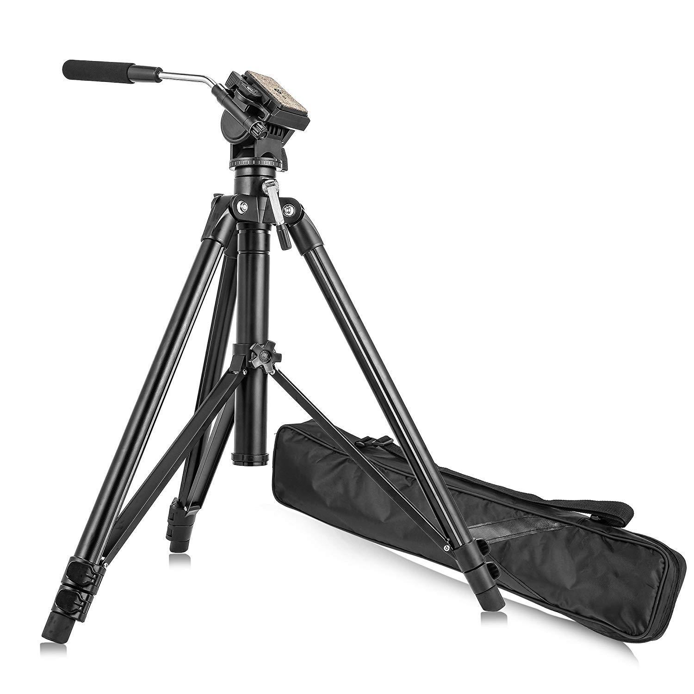 ZOMEi VT-2000 プロフェッショナル アルミニウム カメラ ビデオ 三脚 360度流体 ダンピングヘッド キット バッグ付き デジタル一眼レフカメラ ビデオ撮影 写真撮影用   B07J1PSW42