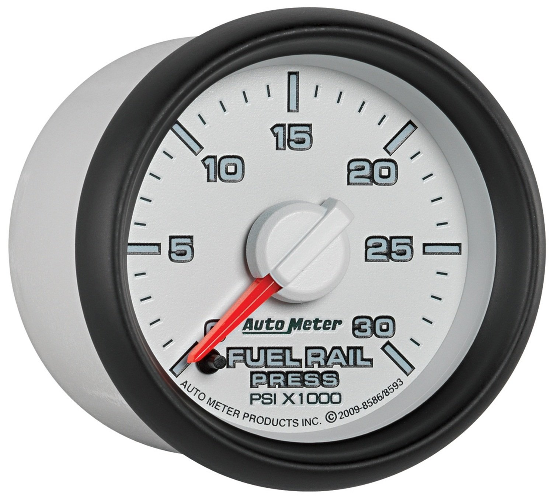 Auto Meter 8593 2-1//16-Inch 0-30000 PSI Fuel Rail Pressure Gauge 2007.5 and Newer Dodge Cummins 6.7L GM Duramax Lbezel and LMM