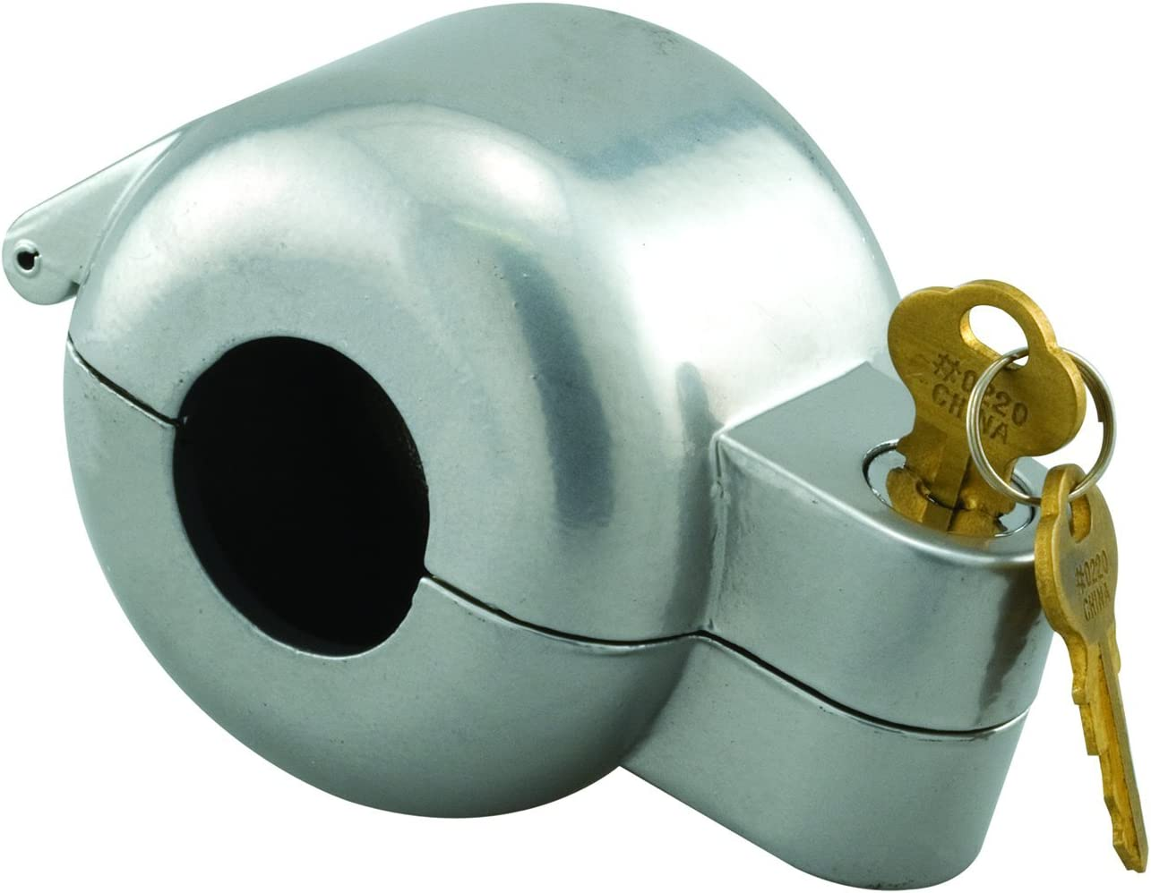 """Defender Security S 4180 Doorknob Lock-Out Device – Doorknob Lock with Key to Block Access to Keyhole, Removeable and Easy to Use, Fits Round Doorknobs with Max Diameter of 2-7/8"""""""