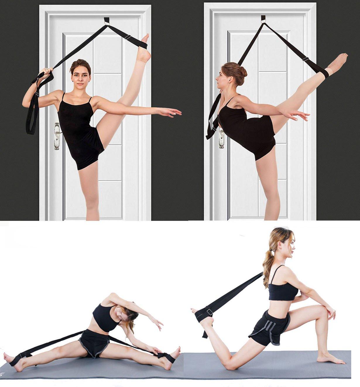 Soga para estiramiento de piernas, obtén más flexibilidad con esta soga de entrenamiento. Equipo de estiramiento premium para ballet, danza, gimnasia, taekwondo y artes marciales mixtas.¡Tu propia máquina de estiramiento portátil! - INPAY, azul, 1 seaNpem