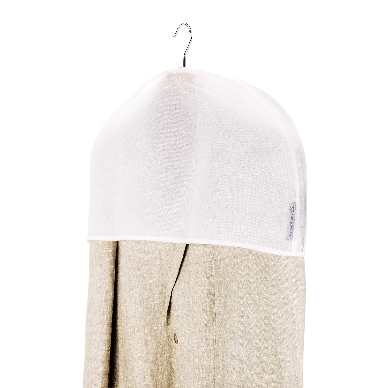 Hangerworld 20 Wei/ße Schultercover mit breiten Seitenfalte Schulter Schutzh/üllen Kleiderglocke