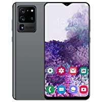 6.6in HD Smartphone Unlocked,2230X1080 Waterdrop Screen Cell Phone,Dual Cards Dual Standby Smartphone,Smartphone for Android 10.0(Gray)