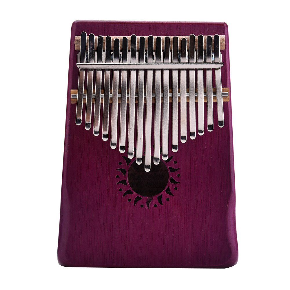 Per 17 Keys Kalimba Portable Thumb Piano Solid Finger Piano Mbira/Marimba Mahogany Body With Tune Hammer& Instruction Beginner Friendly-Black