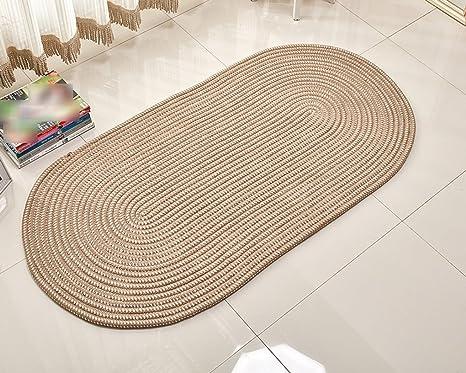CYJZ® Tappeto, corda di tessitura sala da soggiorno ovale tavolino ...