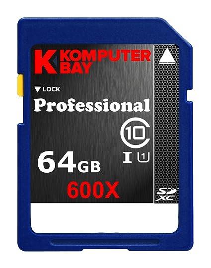 Komputerbay 64GB SDXC Secure Digital Extended Capacity Clase 10 UHS-I 600X Ultra Tarjeta de memoria flash de alta velocidad de 40 MB/s de escritura 90 ...
