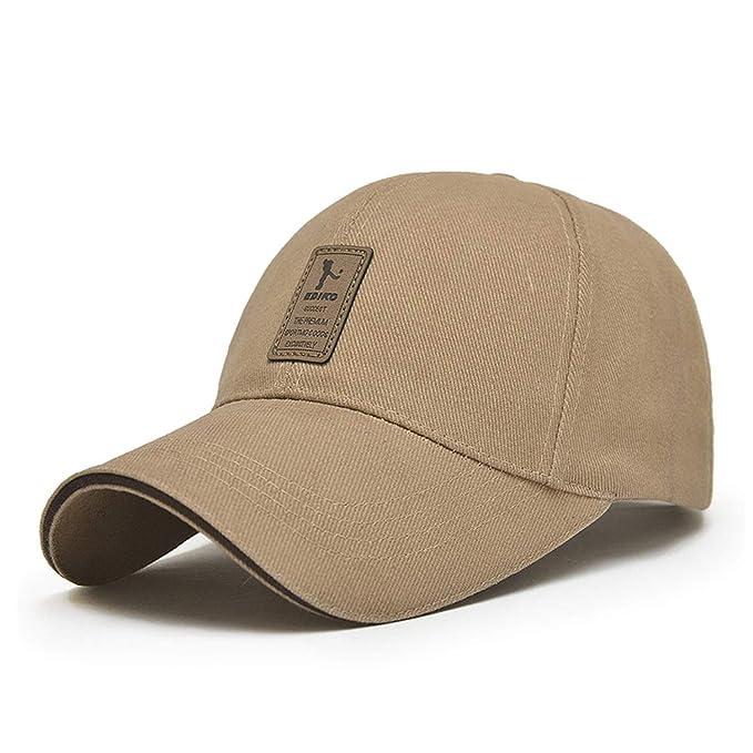 1af7670ae71 Baseball Cap Men s Adjustable Cap Casual Leisure Hats Solid Color Fashion  Summer Fall Hat Beige
