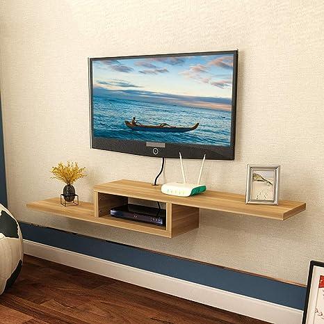 Televisor Montado en la Pared Gabinete Consola Multimedia Reproductor de DVD Televisor Decodificador Enrutador Caja de Cable Equipo de Juego Estante de Almacenamiento Estante de Pared (Color: C, Tama: Amazon.es: Deportes y