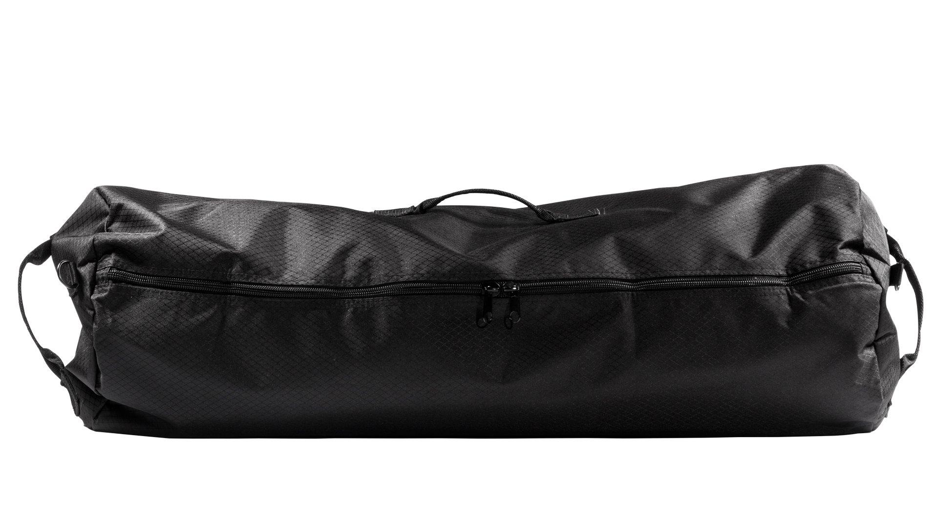 North Star Sports Side Load Duffle Gear Bag 1050 Diamond Rip Stop Tuff Cloth, Midnight Black, 21'' x 36''