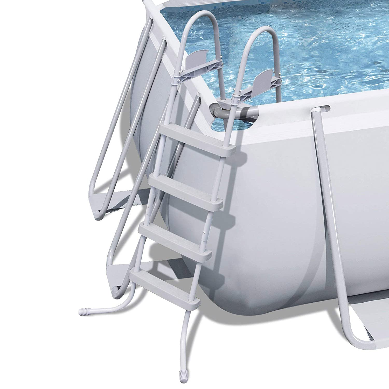 Bestway Power Steel 18 x 9 x 48 Rectangular Frame Pool Set