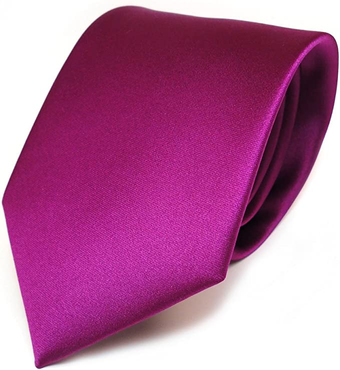 TigerTie - diseñador lazos de satén violeta magenta monocromo ...