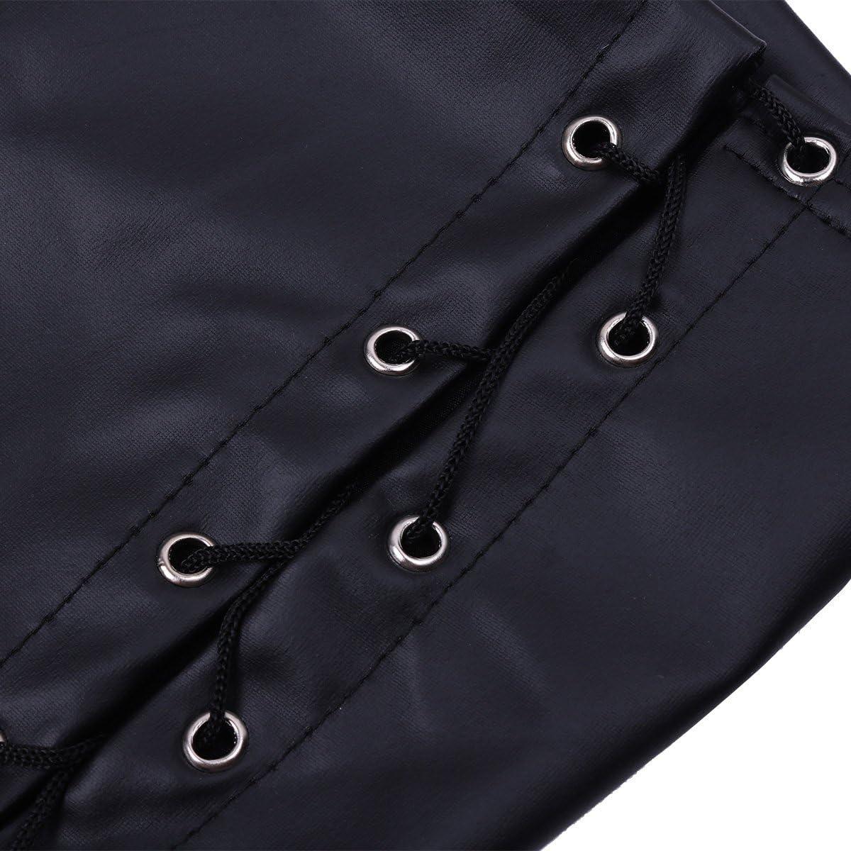 Freebily Womens Shiny Metallic Lace Up Hot Shorts Sissy Panties Bikini Brief Underwear Clubwear