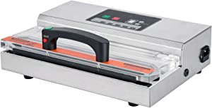 Excalibur EPV12 Professional Dual Pump Vacuum Sealer Features 5mm Sealing Width Continuous Use with Pulse Function, Silver