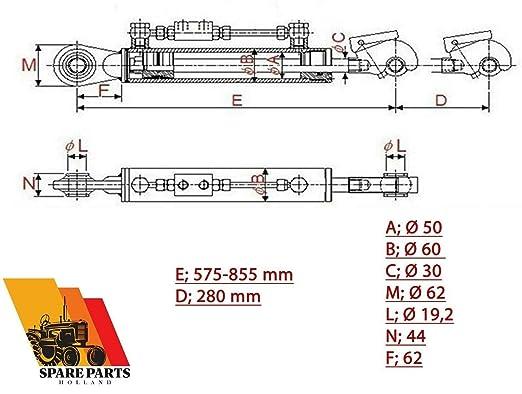 Hydraulische Oberlenker Kat 1 1 Fanghaken 280 Mm Hub Sperrblockschläuche 19 2 Gewerbe Industrie Wissenschaft