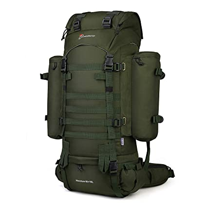 Mardingtop 65+10L Internal Frame Backpack with Rain Cover for Military  Camping Hiking Traveling Army 5c4cd286f9983