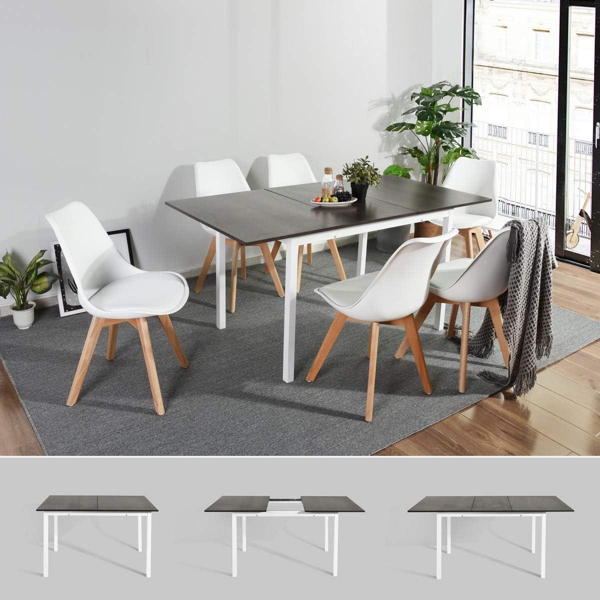 Extendable Dining Table, HOMEMAKE Amazing Large Multipurpose Kitchen Home  Restaurant Table 11-11CM