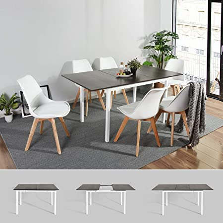 Mesa de Comedor Extensible FurnitureR Amazing Grande Multiusos ...
