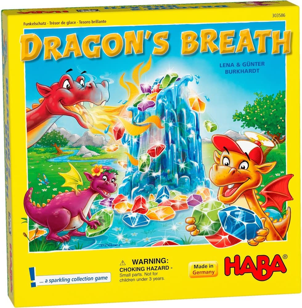 HABA Dragon's Breath - 2018 Kinderspiel des Jahres (Children's Game of The Year) Winner - an Exciting Collecting Game for 2-4 Players Ages 5+