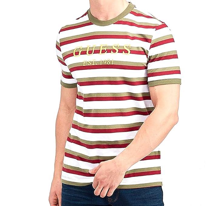 diseñador de moda calzado original de costura caliente Guess - Camiseta - Redondo - Manga Corta - para Hombre ...