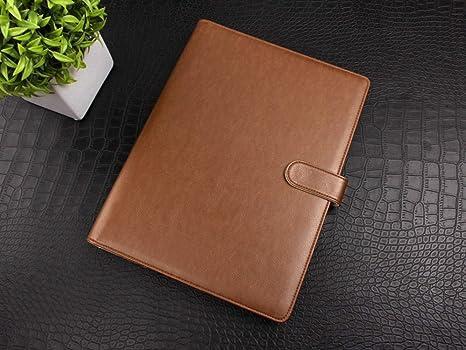 YNIME Cuaderno Organizador de tapa de cuero A4 Pu con 4 ...
